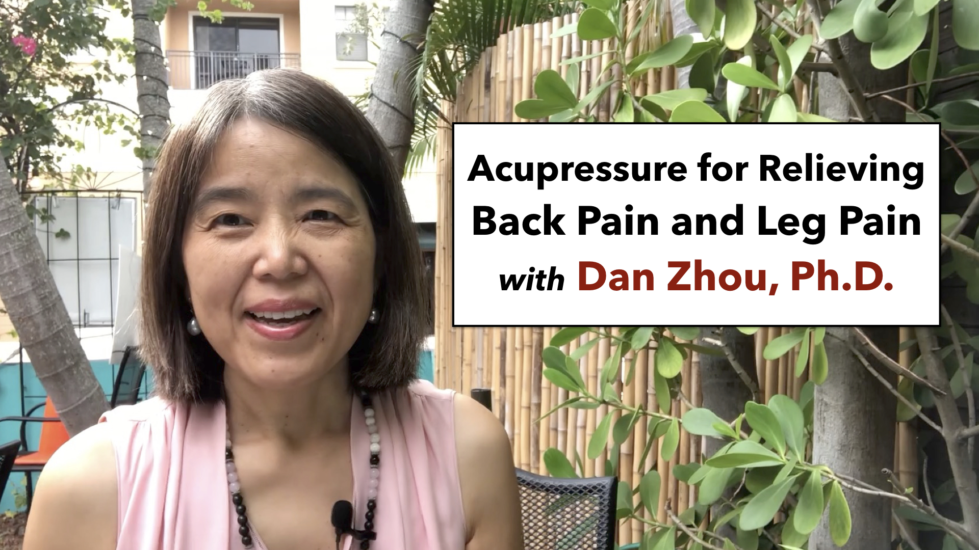 How to relieve back pain with acupressure